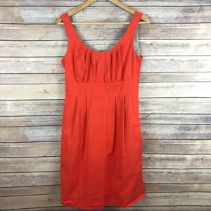 J.Crew coral Fit & Flair dress with pockets! SZ 4